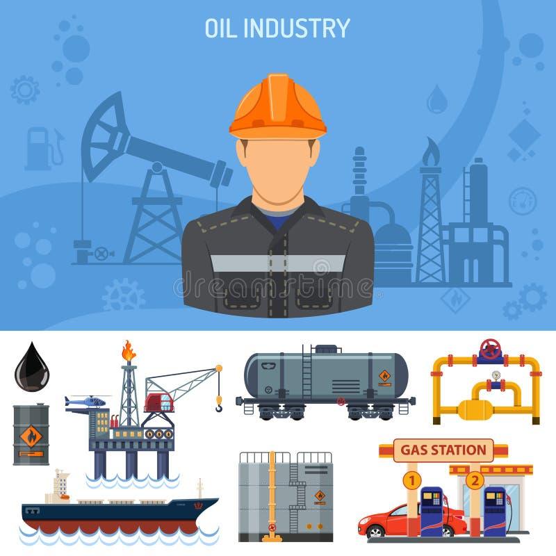 Έννοια βιομηχανίας πετρελαίου ελεύθερη απεικόνιση δικαιώματος