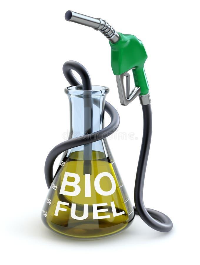 Έννοια βιολογικών καυσίμων διανυσματική απεικόνιση
