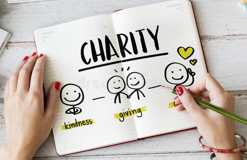 Έννοια βοήθειας κοινοτικού μεριδίου φιλανθρωπίας στοκ εικόνες