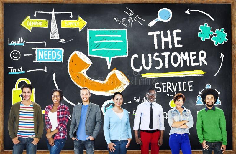 Έννοια βοήθειας υποστήριξης αγοράς στόχων εξυπηρέτησης πελατών στοκ εικόνες