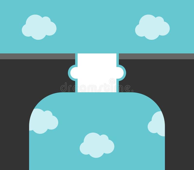 Έννοια γεφυρών κομματιού γρίφων ελεύθερη απεικόνιση δικαιώματος