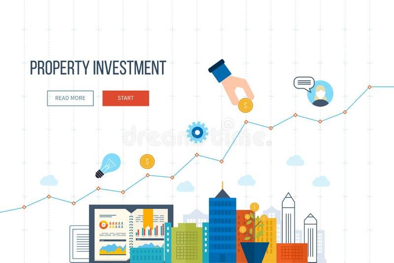 Έννοια για την έξυπνη επένδυση, χρηματοδότηση, τραπεζικές εργασίες, στρατηγική διαχείριση, διανυσματική απεικόνιση