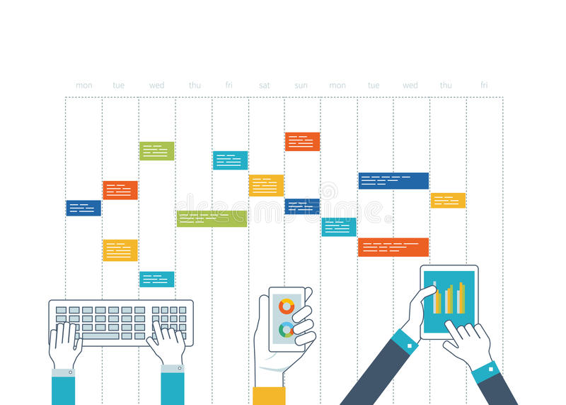 Έννοια για την επιχειρησιακή ανάλυση, διαβούλευση, προγραμματισμός στρατηγικής, διαχείριση του προγράμματος απεικόνιση αποθεμάτων