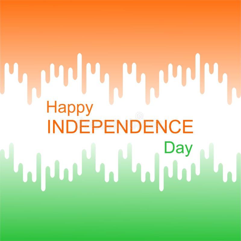 Έννοια για την ινδική ημέρα της ανεξαρτησίας απεικόνιση αποθεμάτων