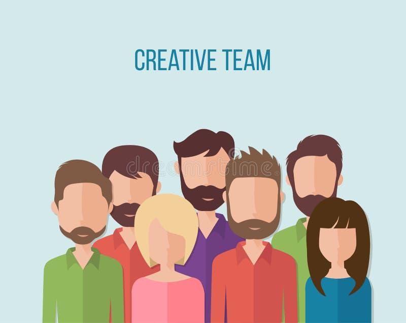 Έννοια για την ομαδική εργασία επιχειρηματιών, ανθρώπινα δυναμικά διανυσματική απεικόνιση