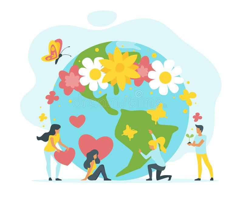 Έννοια για τη προστασία του περιβάλλοντος απεικόνιση αποθεμάτων