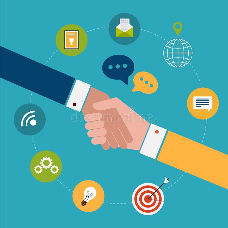 Έννοια για τη συνεργασία και την εργασία ομάδων ελεύθερη απεικόνιση δικαιώματος