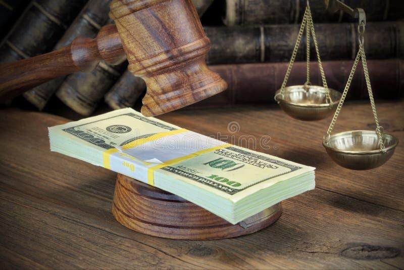 Έννοια για τη δωροδοκία, δικαστήριο πτώχευσης, εγγύηση, έγκλημα, που δωροδοκεί, στοκ εικόνα με δικαίωμα ελεύθερης χρήσης