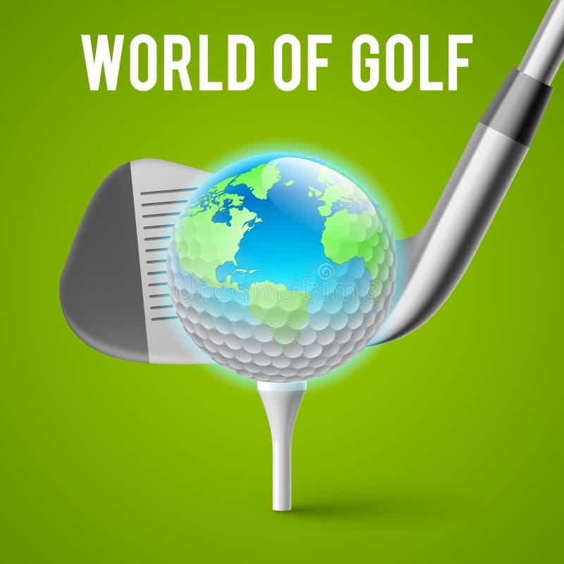 Έννοια γκολφ διανυσματική απεικόνιση