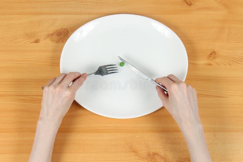 Έννοια διατροφικής διαταραχής στοκ εικόνα