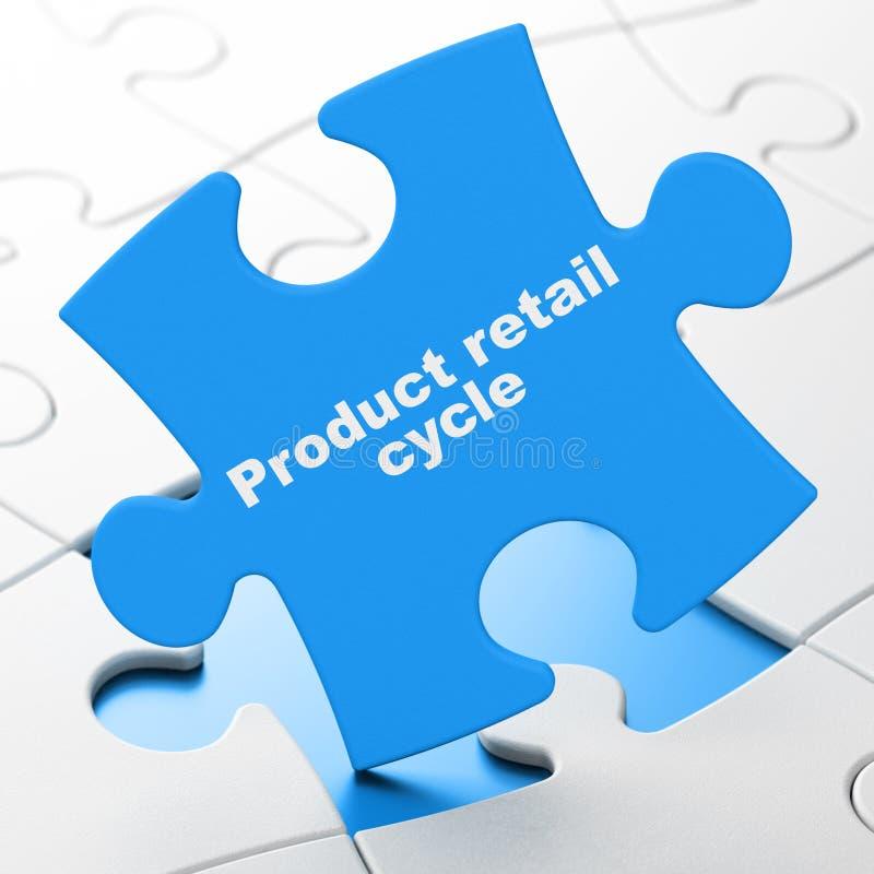 Έννοια διαφήμισης: Λιανικός κύκλος προϊόντων στο υπόβαθρο γρίφων ελεύθερη απεικόνιση δικαιώματος