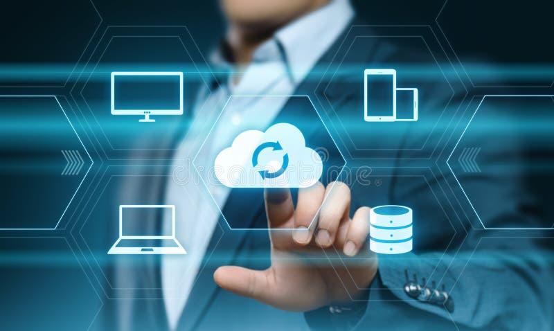 Έννοια δικτύων αποθήκευσης Διαδικτύου τεχνολογίας υπολογισμού σύννεφων στοκ φωτογραφία με δικαίωμα ελεύθερης χρήσης
