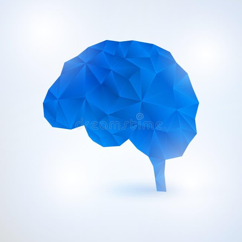 Έννοια εγκεφάλου τεχνητής νοημοσύνης με τα δυαδικά ψηφία ελεύθερη απεικόνιση δικαιώματος