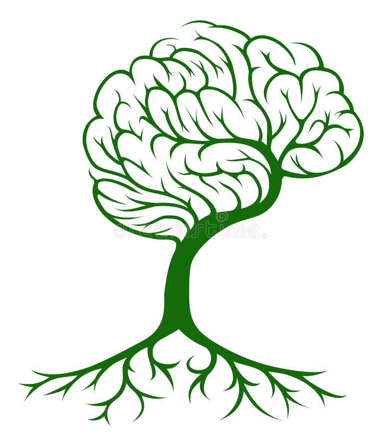 Έννοια εγκεφάλου δέντρων απεικόνιση αποθεμάτων