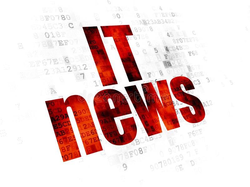 Έννοια ειδήσεων: Ειδήσεις ΤΠ στο ψηφιακό υπόβαθρο απεικόνιση αποθεμάτων