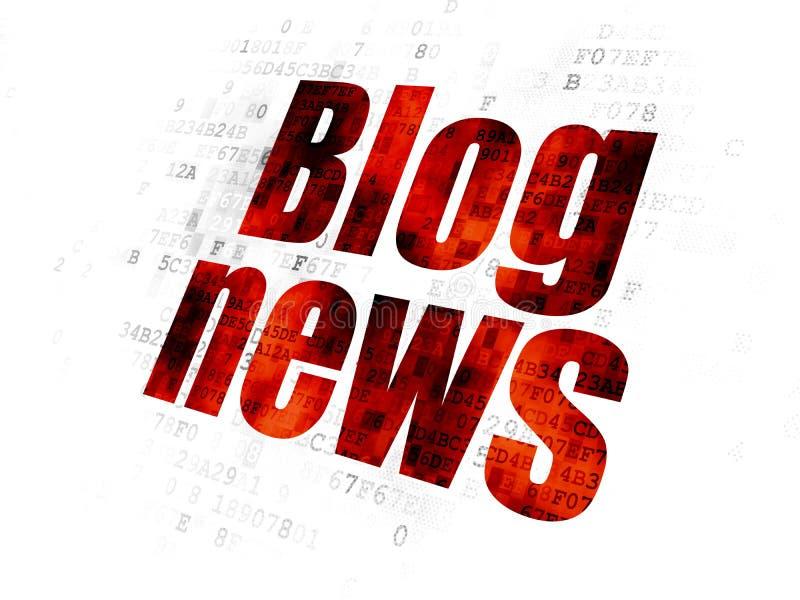 Έννοια ειδήσεων: Ειδήσεις Blog στο ψηφιακό υπόβαθρο ελεύθερη απεικόνιση δικαιώματος