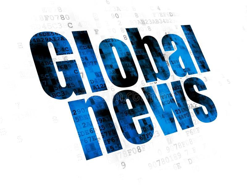 Έννοια ειδήσεων: Σφαιρικές ειδήσεις στο ψηφιακό υπόβαθρο απεικόνιση αποθεμάτων