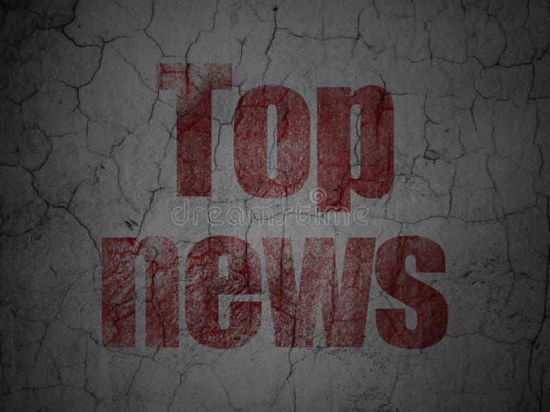 Έννοια ειδήσεων: Τοπ ειδήσεις στο υπόβαθρο τοίχων grunge ελεύθερη απεικόνιση δικαιώματος