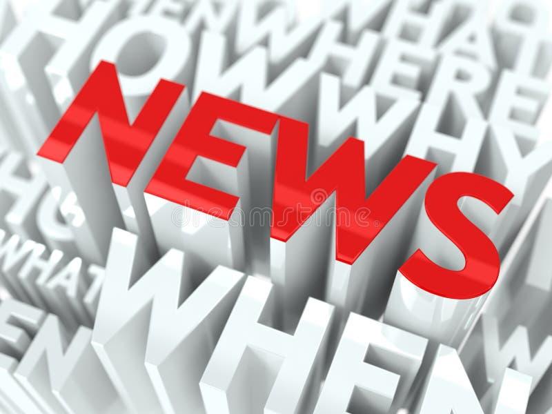 Έννοια ειδήσεων. απεικόνιση αποθεμάτων