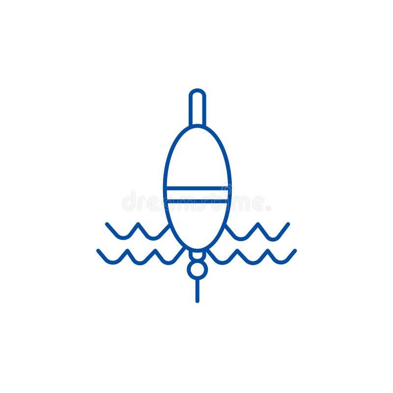 Έννοια εικονιδίων γραμμών αλιείας επιπλεόντων σωμάτων Επιπλέον σώμα που αλιεύει το επίπεδο διανυσματικό σύμβολο, σημάδι, απεικόνι ελεύθερη απεικόνιση δικαιώματος