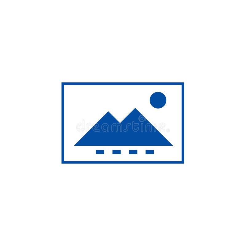 Έννοια εικονιδίων γραμμών αρχείων εικόνας Επίπεδο διανυσματικό σύμβολο αρχείων εικόνας, σημάδι, απεικόνιση περιλήψεων διανυσματική απεικόνιση