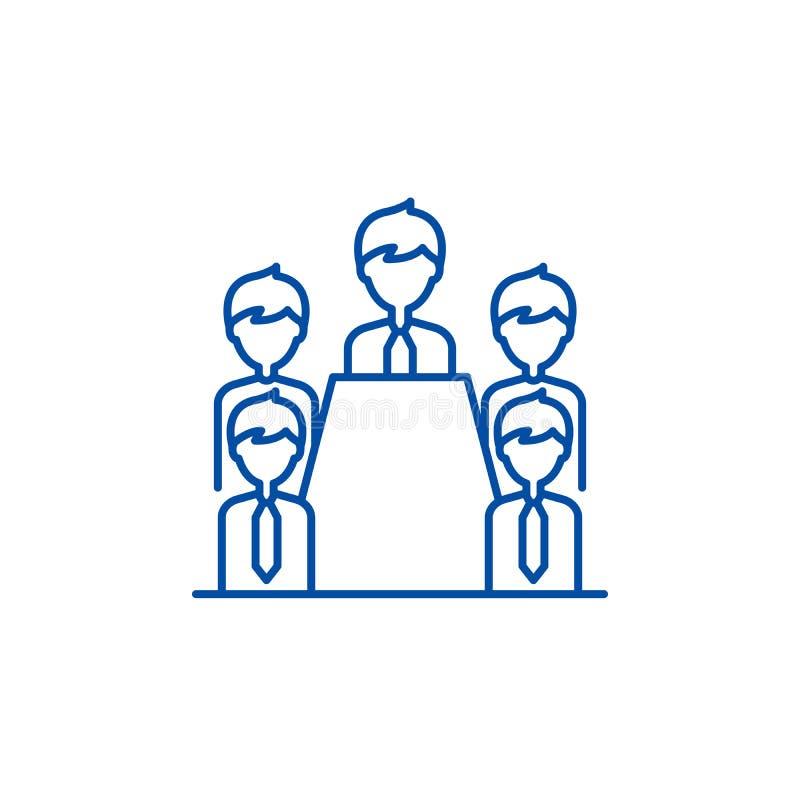 Έννοια εικονιδίων γραμμών διοικητικών συμβουλίων Επίπεδο διανυσματικό σύμβολο διοικητικών συμβουλίων, σημάδι, απεικόνιση περιλήψε διανυσματική απεικόνιση