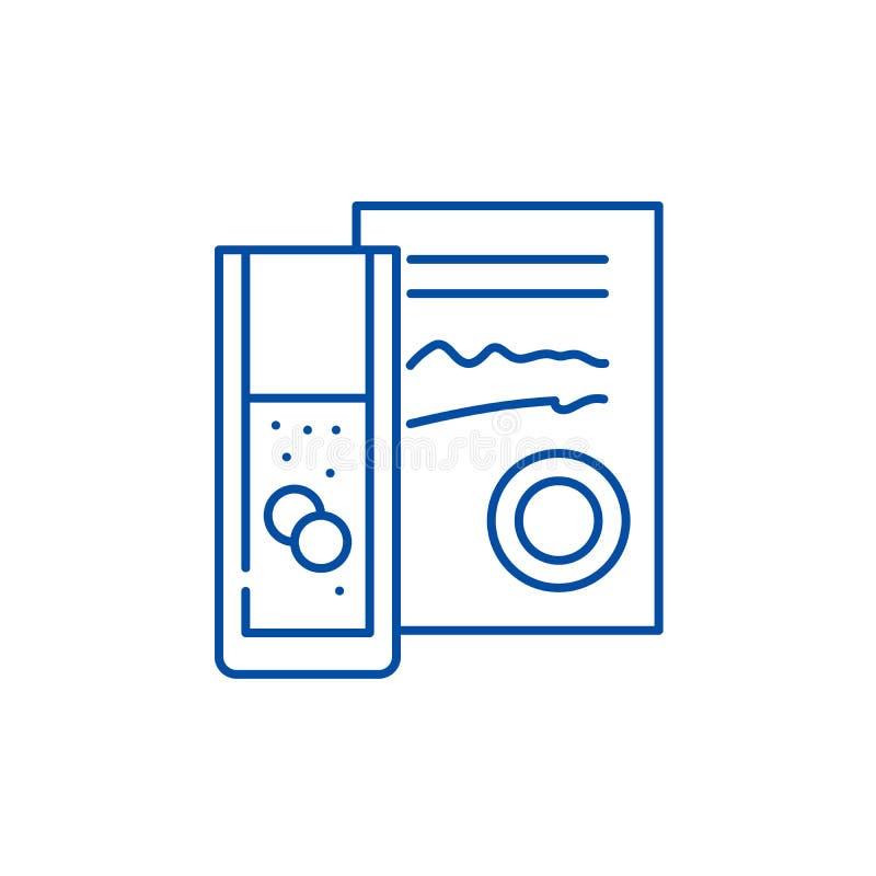 Έννοια εικονιδίων γραμμών διορισμού γιατρών Επίπεδο διανυσματικό σύμβολο διορισμού γιατρών, σημάδι, απεικόνιση περιλήψεων διανυσματική απεικόνιση