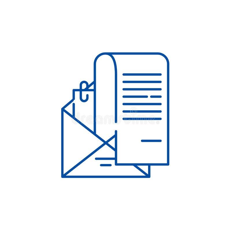 Έννοια εικονιδίων γραμμών εκθέσεων τραπεζικού λογαριασμού Επίπεδο διανυσματικό σύμβολο εκθέσεων τραπεζικού λογαριασμού, σημάδι, α διανυσματική απεικόνιση