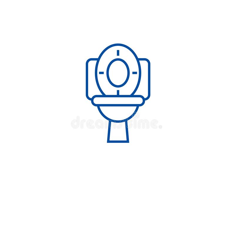 Έννοια εικονιδίων γραμμών κύπελλων τουαλετών Επίπεδο διανυσματικό σύμβολο κύπελλων τουαλετών, σημάδι, απεικόνιση περιλήψεων απεικόνιση αποθεμάτων