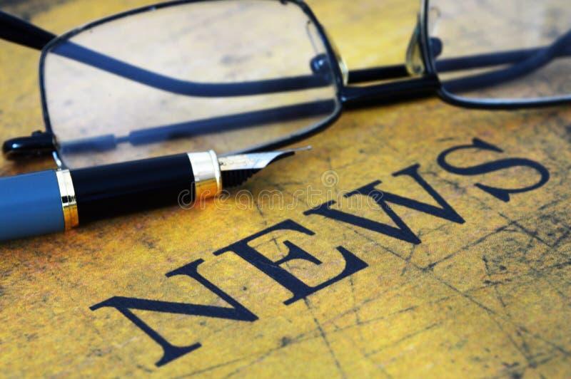 Έννοια ειδήσεων στοκ εικόνα