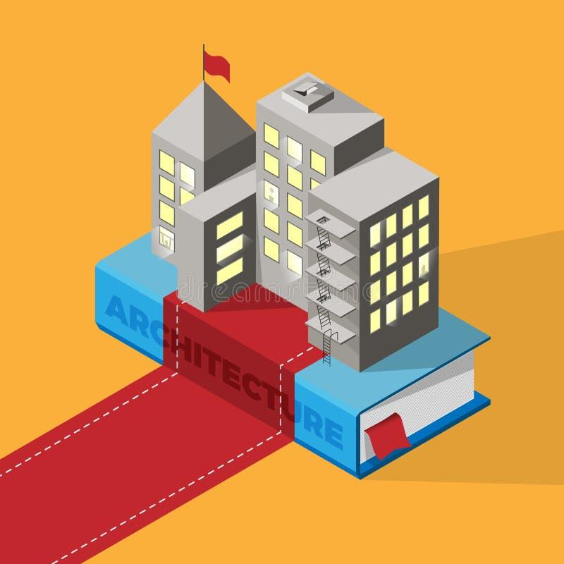 Έννοια εκμάθησης αρχιτεκτονικής απεικόνιση αποθεμάτων