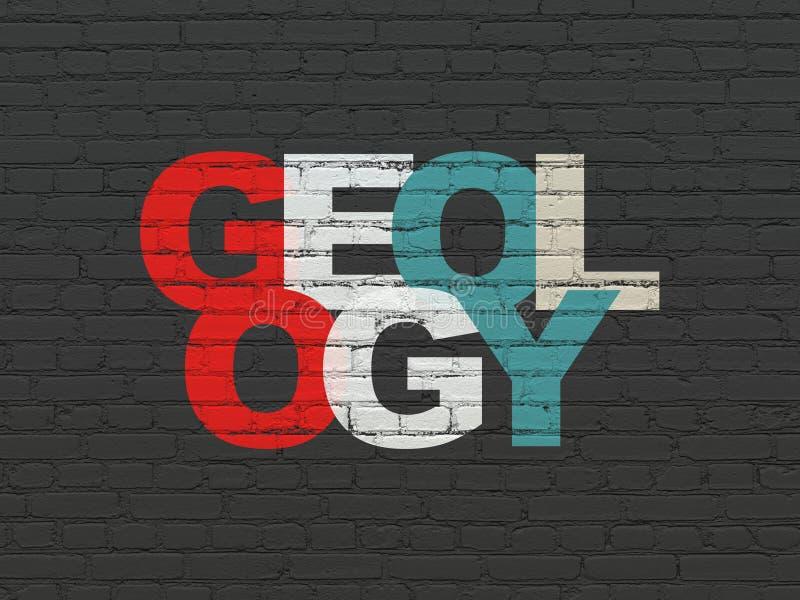 Έννοια εκμάθησης: Γεωλογία στο υπόβαθρο τοίχων ελεύθερη απεικόνιση δικαιώματος