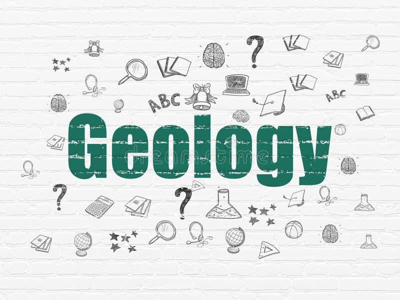 Έννοια εκμάθησης: Γεωλογία στο υπόβαθρο τοίχων διανυσματική απεικόνιση