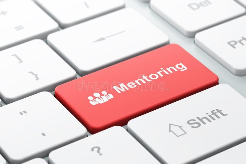 Έννοια εκπαίδευσης: Επιχειρηματίες και Mentoring απεικόνιση αποθεμάτων