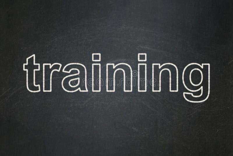 Έννοια εκπαίδευσης: Κατάρτιση στον πίνακα κιμωλίας διανυσματική απεικόνιση