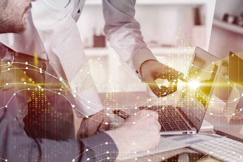 Έννοια εμπορίου, λογιστικής και ομαδικής εργασίας στοκ εικόνα