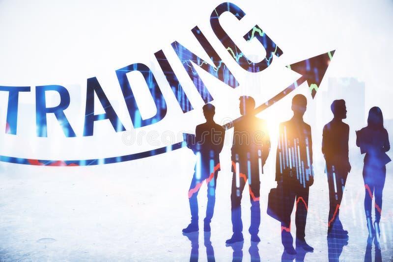 Έννοια εμπορίου, συνεδρίασης και οικονομίας απεικόνιση αποθεμάτων