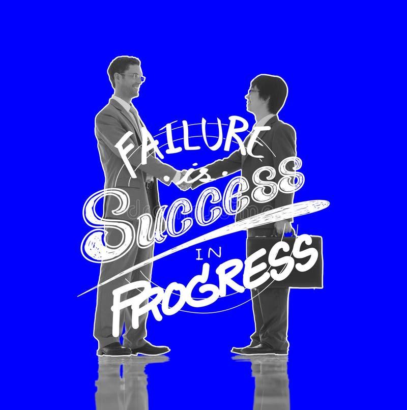 Έννοια εμπορικής επένδυσης προόδου επιτυχίας αποτυχίας στοκ φωτογραφίες