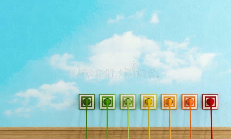 Έννοια ενεργειακής αποδοτικότητας διανυσματική απεικόνιση