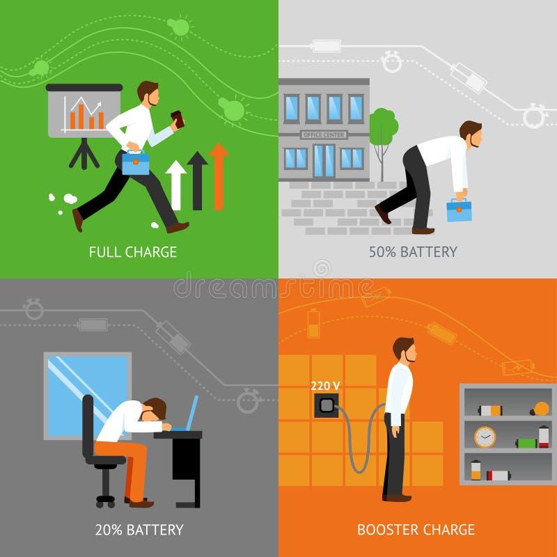 Έννοια ενεργειακού σχεδίου επιχειρηματιών απεικόνιση αποθεμάτων