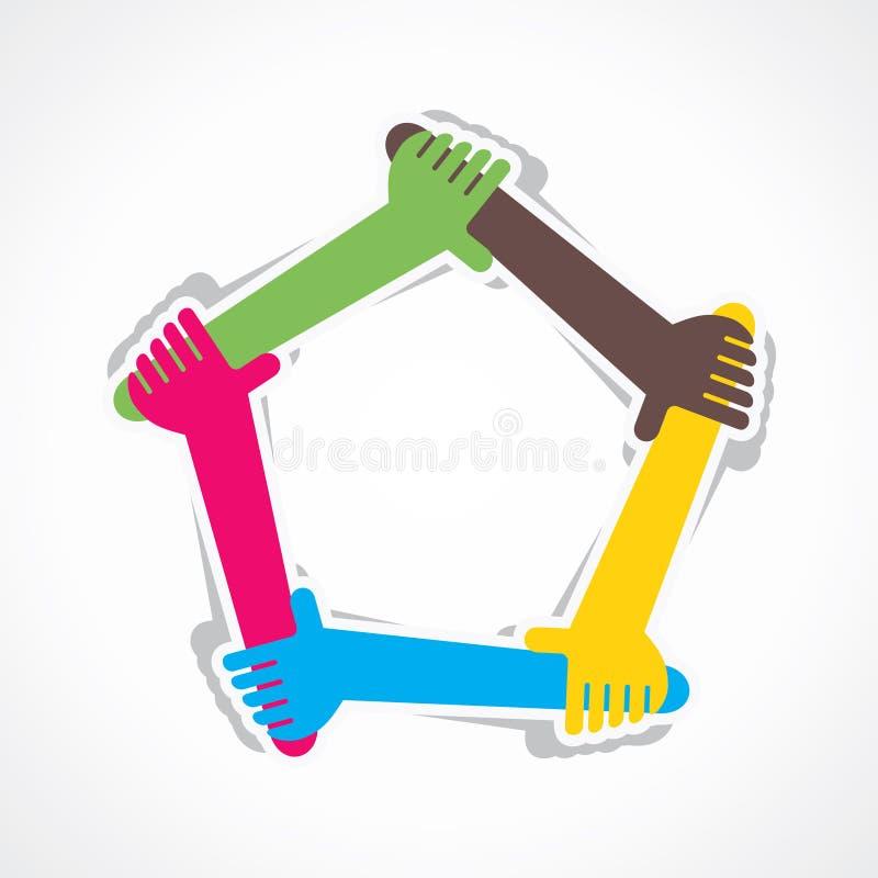 Έννοια ενότητας χεριών απεικόνιση αποθεμάτων