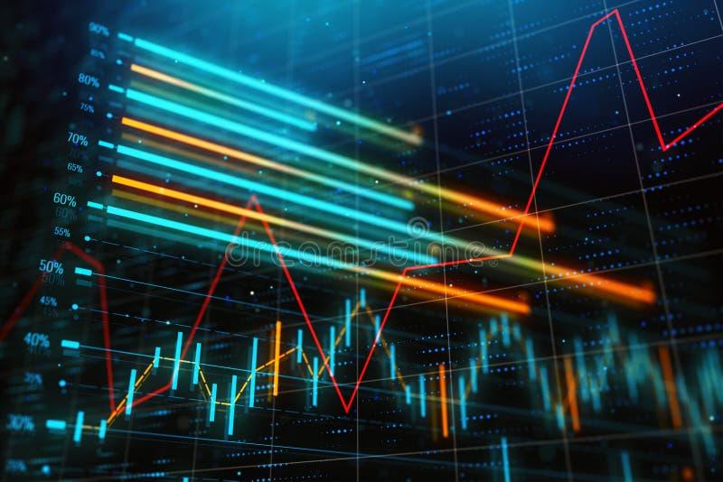 Έννοια επένδυσης, εμπορίου και οικονομίας στοκ εικόνες με δικαίωμα ελεύθερης χρήσης