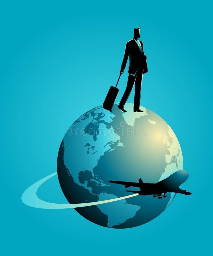 Έννοια επαγγελματικού ταξιδιού ελεύθερη απεικόνιση δικαιώματος