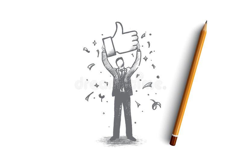 Έννοια επικοινωνίας δικτύων Συρμένο χέρι απομονωμένο διάνυσμα ελεύθερη απεικόνιση δικαιώματος