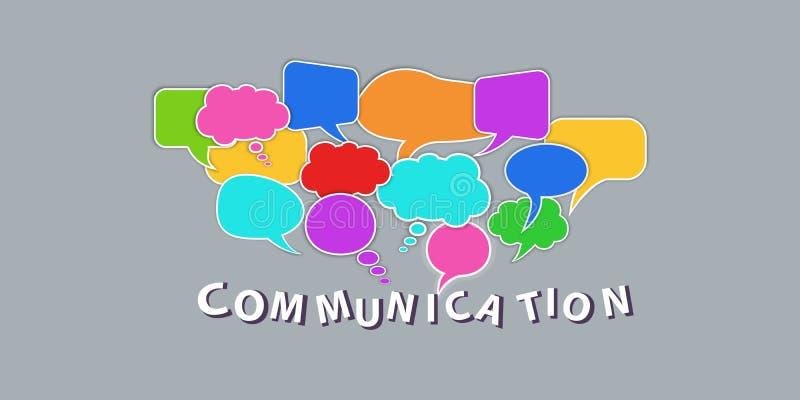 Έννοια επικοινωνίας δικτύων Σύνολο ζωηρόχρωμων λεκτικών φυσαλίδων διαλόγου που απομονώνεται στο διαφανές υπόβαθρο Στοιχεία σχεδίο ελεύθερη απεικόνιση δικαιώματος