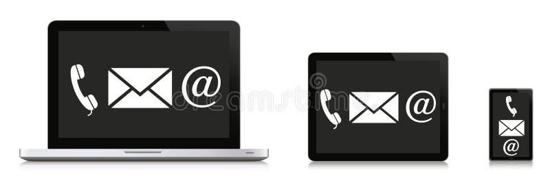 Έννοια επικοινωνίας απεικόνιση αποθεμάτων