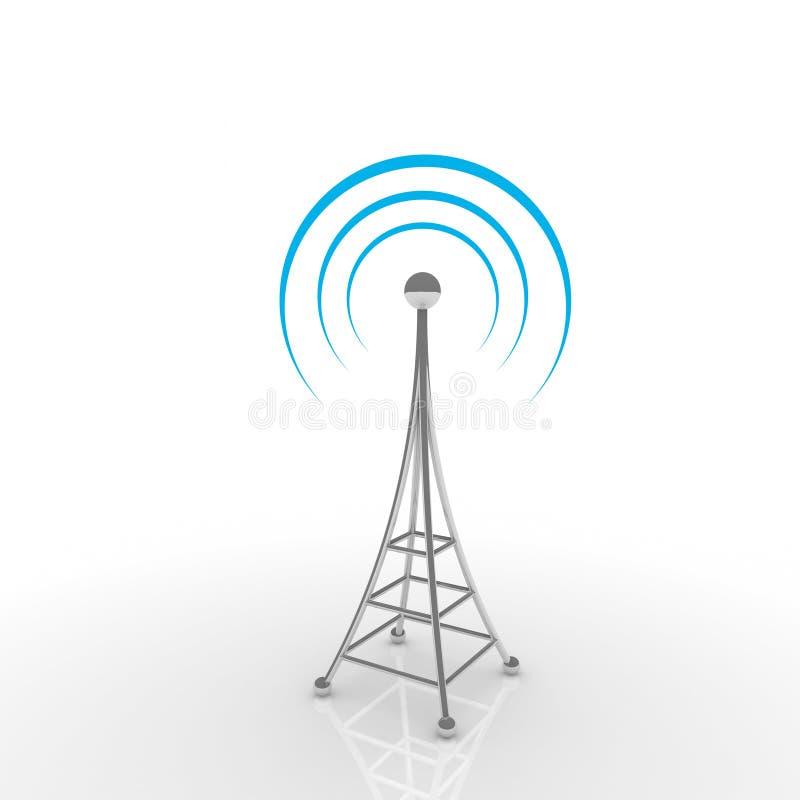 έννοια επικοινωνίας antena κινητή διανυσματική απεικόνιση