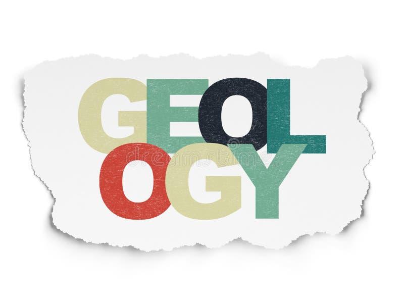 Έννοια επιστήμης: Γεωλογία στο σχισμένο υπόβαθρο εγγράφου ελεύθερη απεικόνιση δικαιώματος