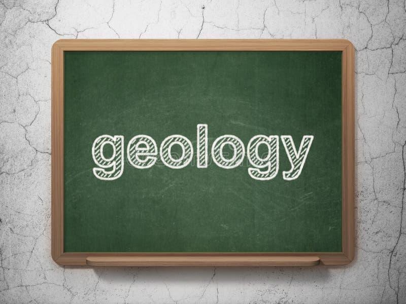 Έννοια επιστήμης: Γεωλογία στο υπόβαθρο πινάκων κιμωλίας διανυσματική απεικόνιση