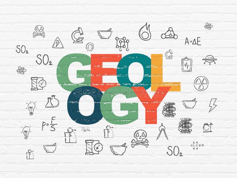 Έννοια επιστήμης: Γεωλογία στο υπόβαθρο τοίχων ελεύθερη απεικόνιση δικαιώματος
